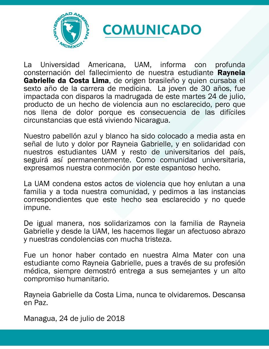 D a 98 24 de julio odh nicaragua for Oficina relaciones internacionales uam